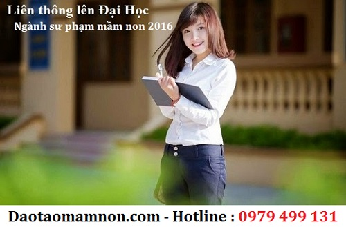 trung cap mam non lien thong dai hoc 2016
