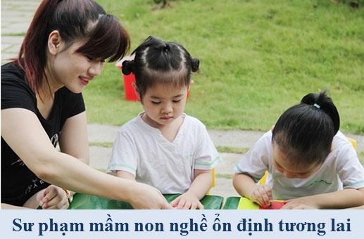 Hoc trung cap mam non tai Ha Noi nam 2016