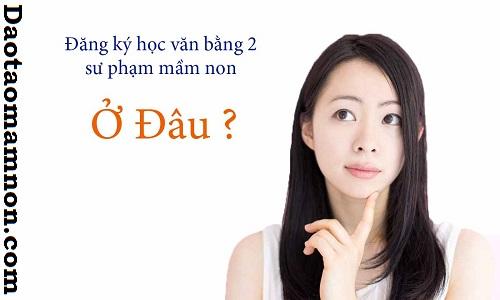 Tuyen sinh, dao tao van bang 2 mam non 2016