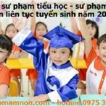 Liên tục tuyển sinh ngành sư phạm tiểu học năm 2016