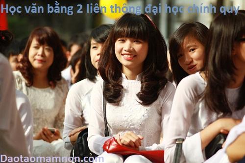 Hoc van bang 2 mam non lien thong dai hoc chinh quy
